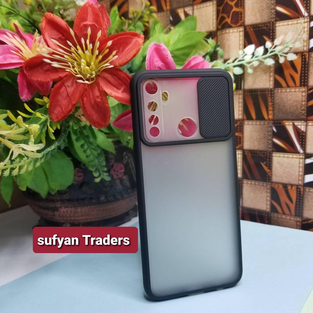 realme_5 / 5i window slide camera protection matte back cover case Premium Luxury Highest Quality for REALME_5/5i