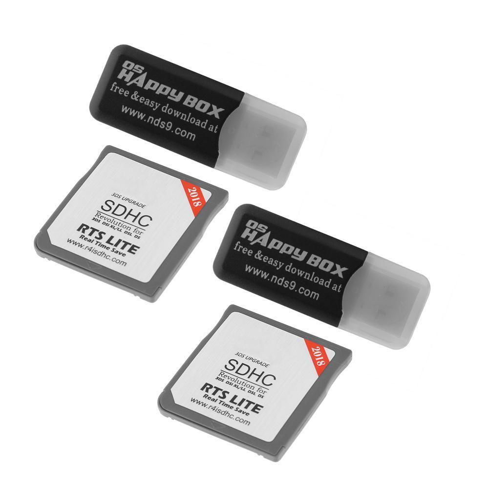 2pcs R4 Revolution Black Pro SDHC for 3DS 2DS DSi XL DSL DS+Card Readers