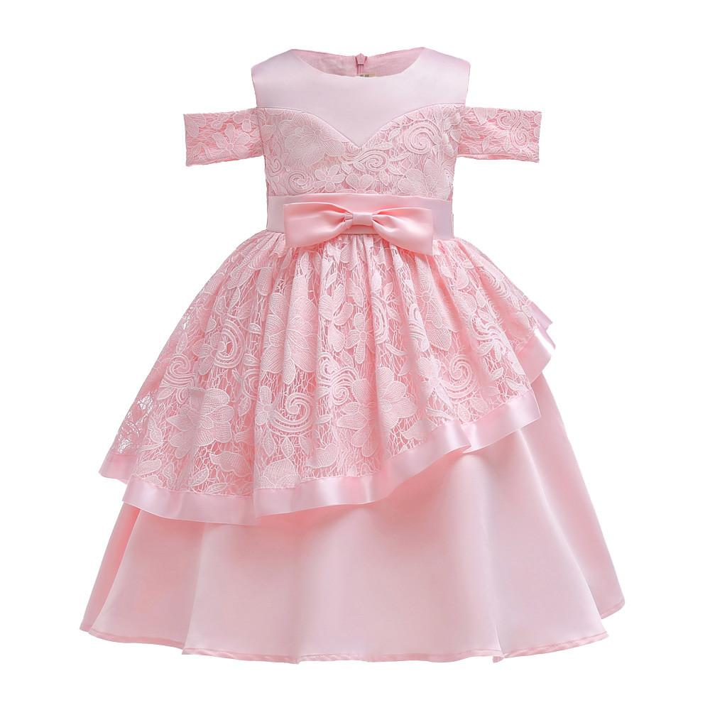 Rainbowroom 2019 Floral Baby Girl Princess Bridesmaid Pageant Gown Birthday  Party Wedding Dress