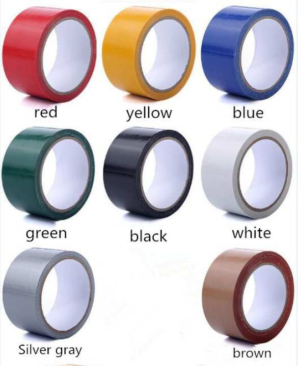 50mmX10M Colorful Waterproof Tape for Pasting Carpet Cable Wedding Duct Supplies