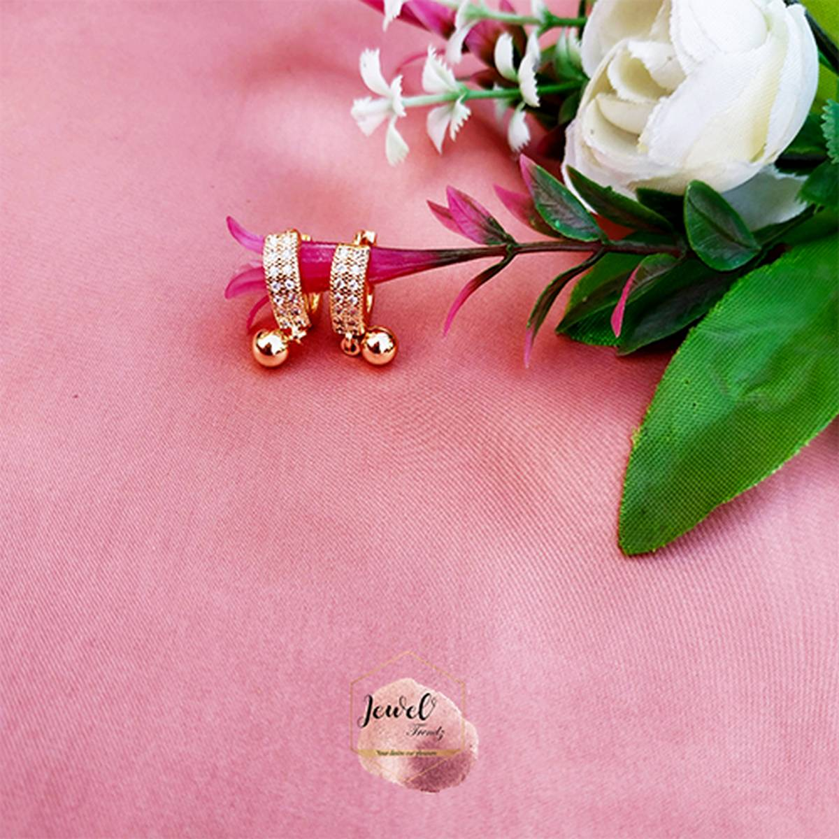 Gold plated Baaliyan - 2 years warranty - Gold color Earrings
