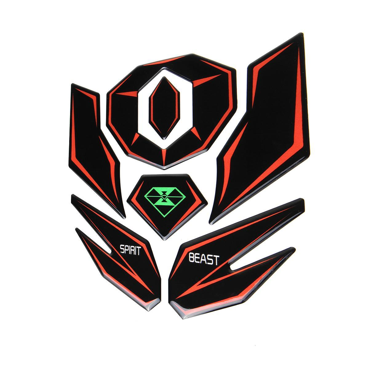 Product details of spirit beast reflective 3d motorcycle sticker moto gas fue l tank protector pad cover decoration decals for hon da yam aha etc (type 8)