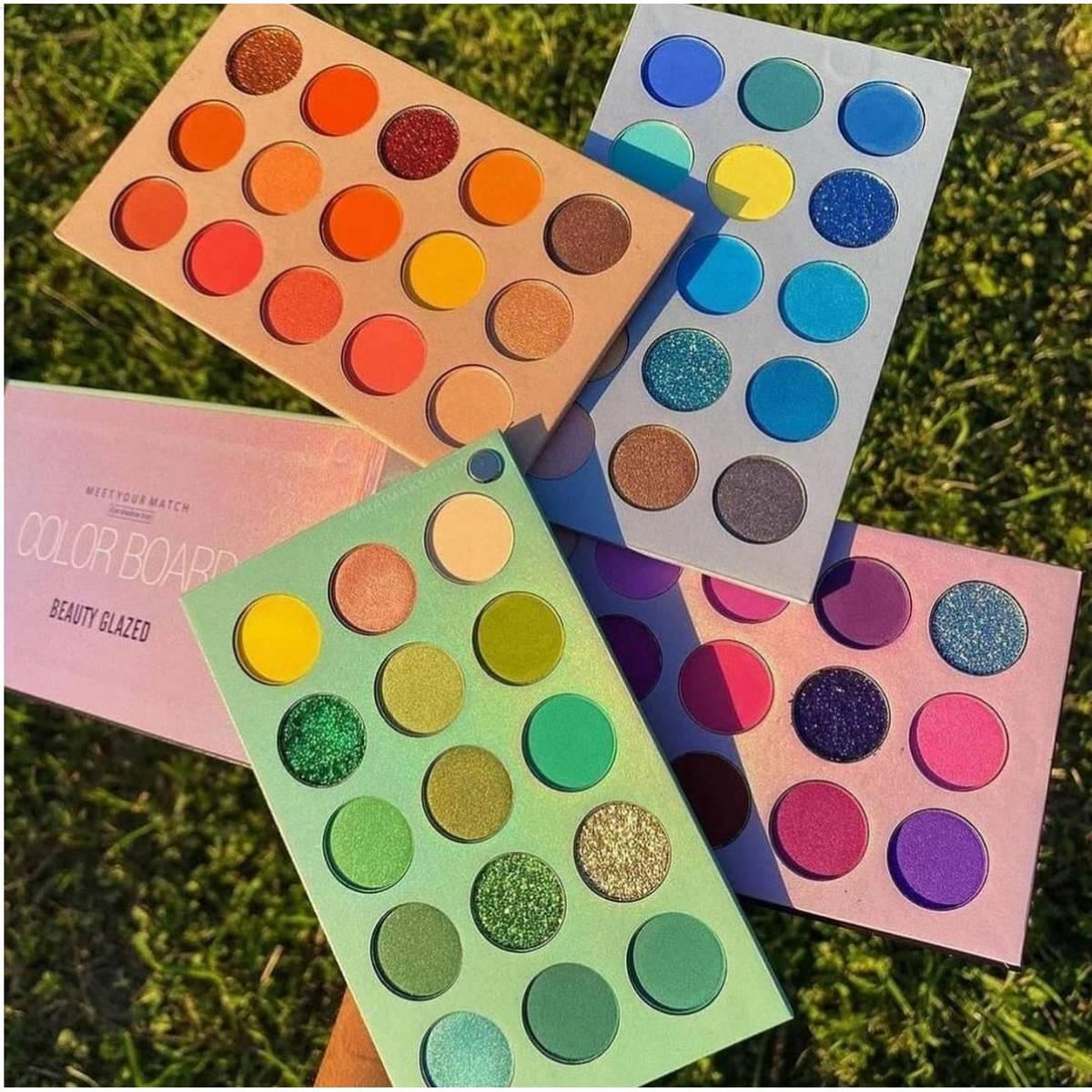 Beauty Glazed 60 Colors Pearlescent Matte Eyeshadow, Eye Cosmetics, Makeup Palette, 4Folding Palette