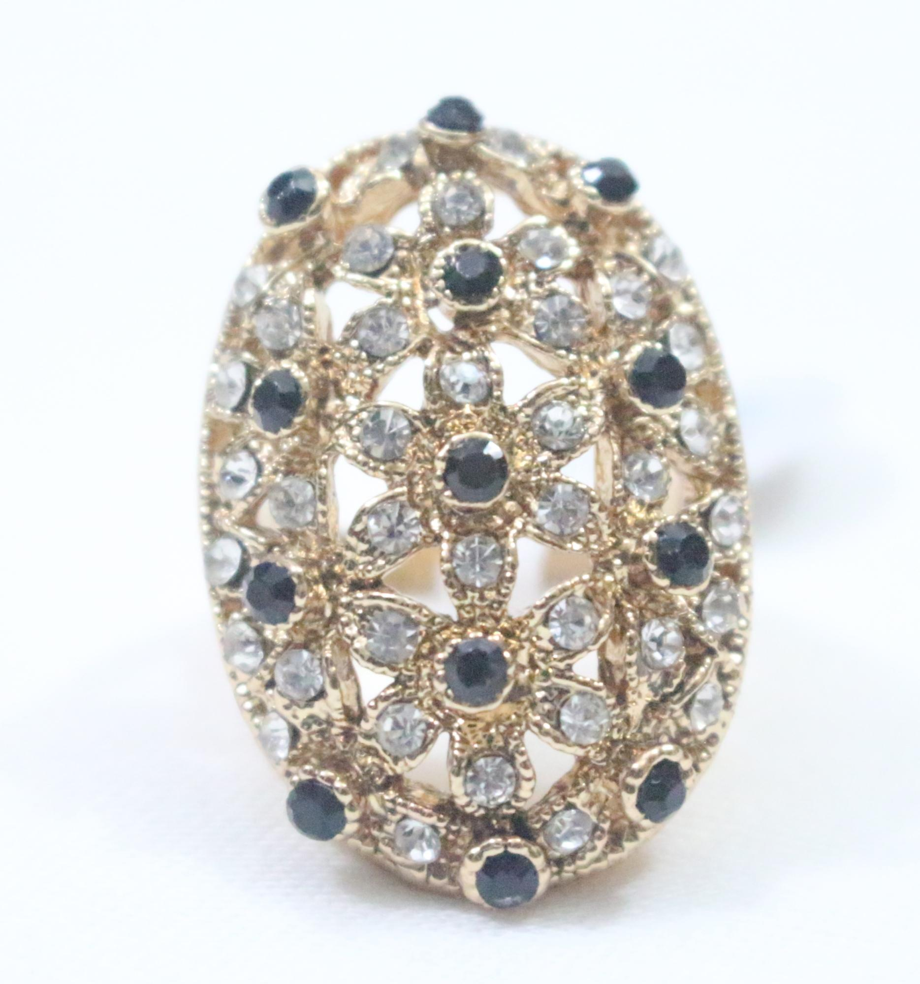 Newest Crystal Metal Fashion Beauty Rings For Women High Quality Bling Ring