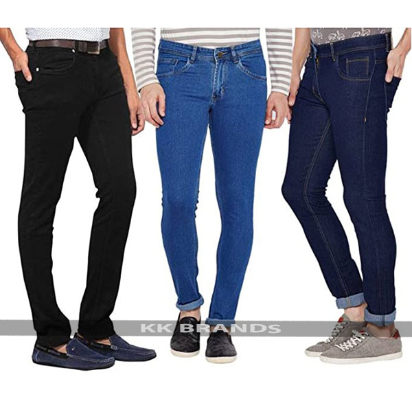 Pack of 3 Stretchable Narrow Denim Jeans For Him