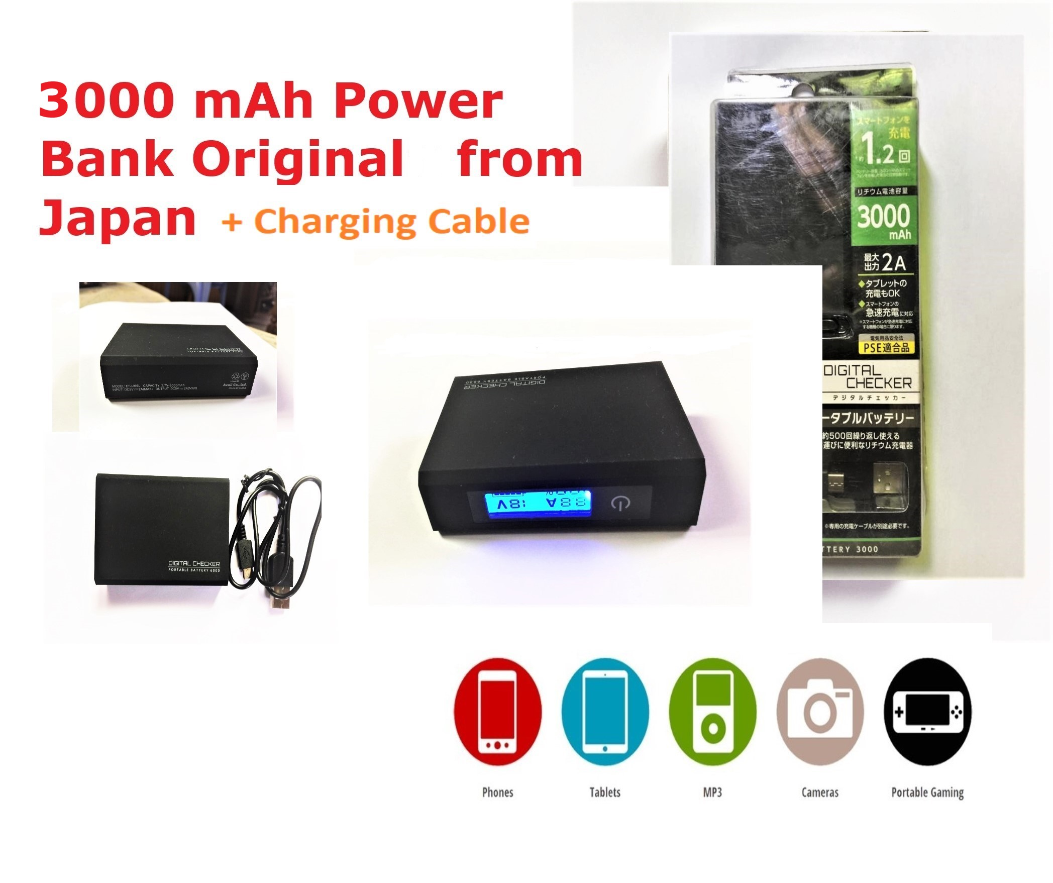 efu 3000 mAh Card size Powerbank Profeesional - Imported Power Bank with Premium Materials With Lithium Battery