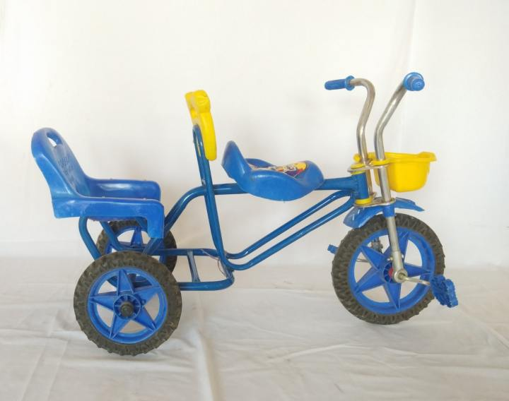 Double Seat Tricycle For Kids age 2 to 6 Years