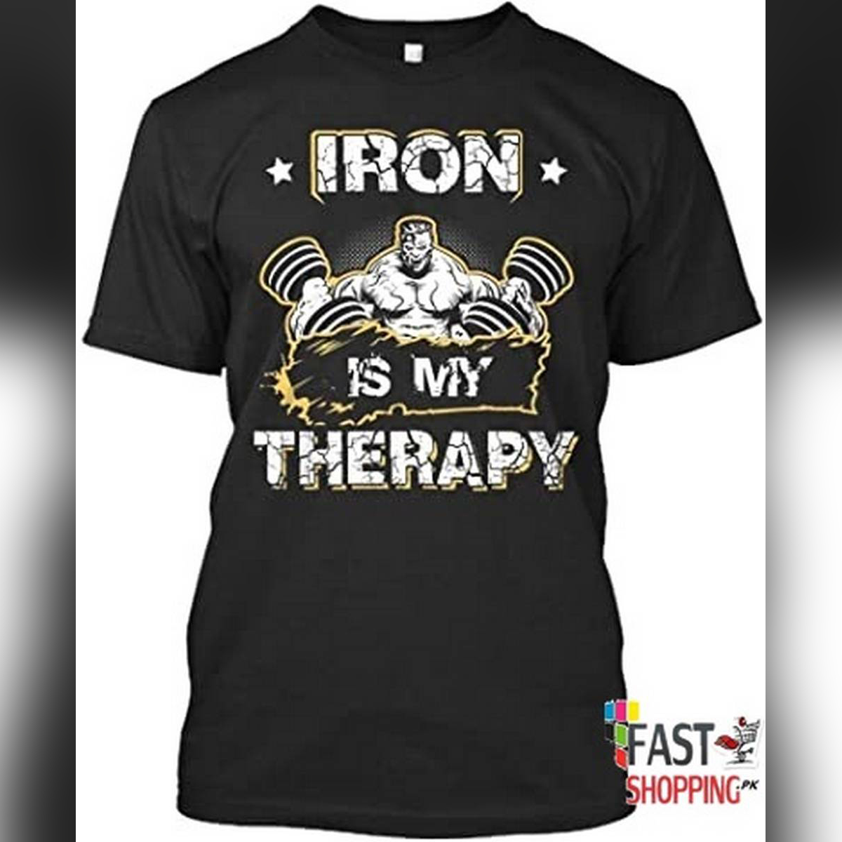 Iron is my therapy  Bodybuilding workout  t.shirt
