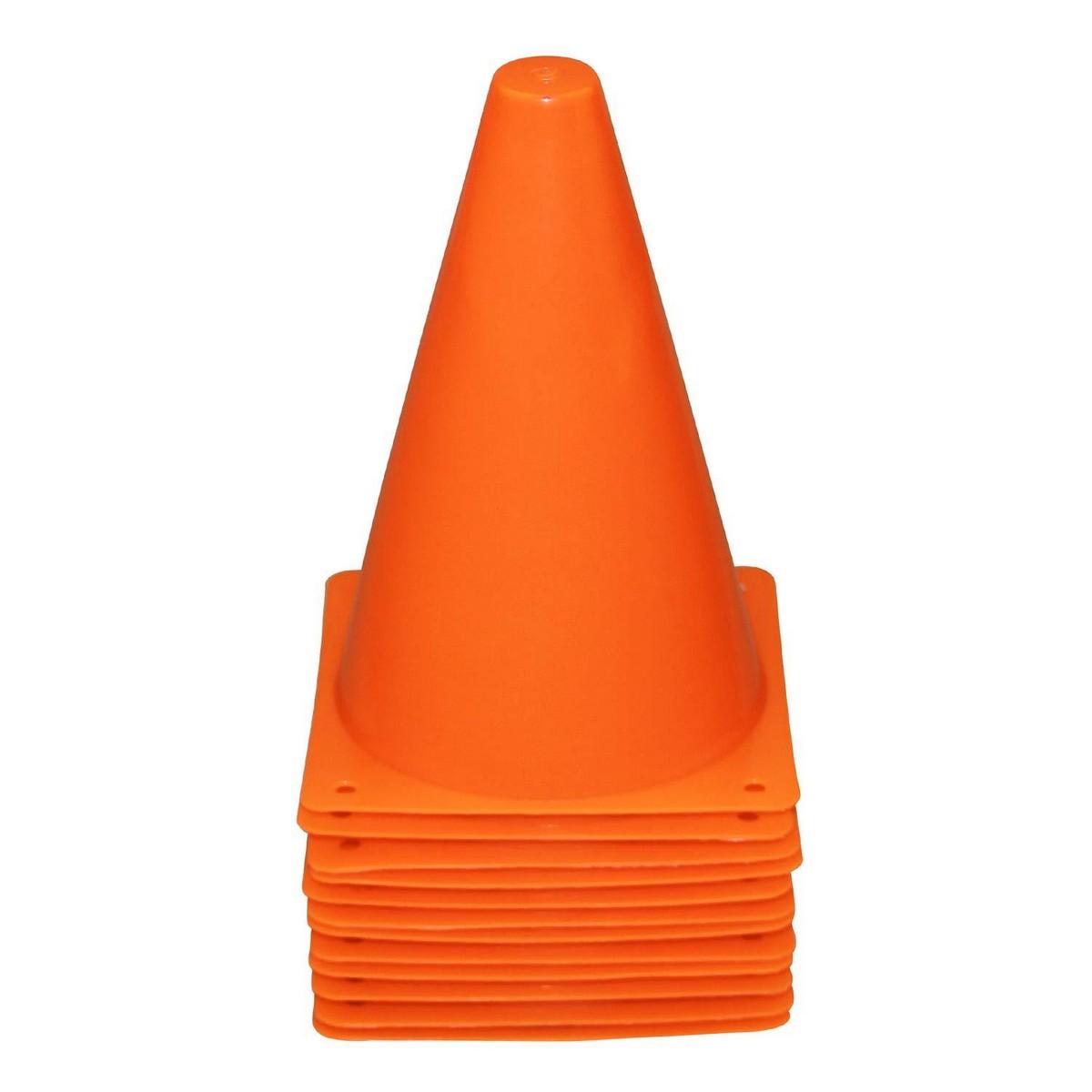 "Set of 10 - 6"" PVC Plastic Sport Training Traffic Cone"