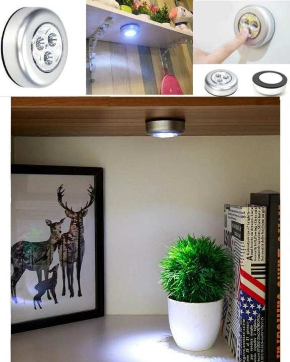 Led Night Light Closet Lamp Battery Operated Wireless Wall For Under Kitchen Cabinets