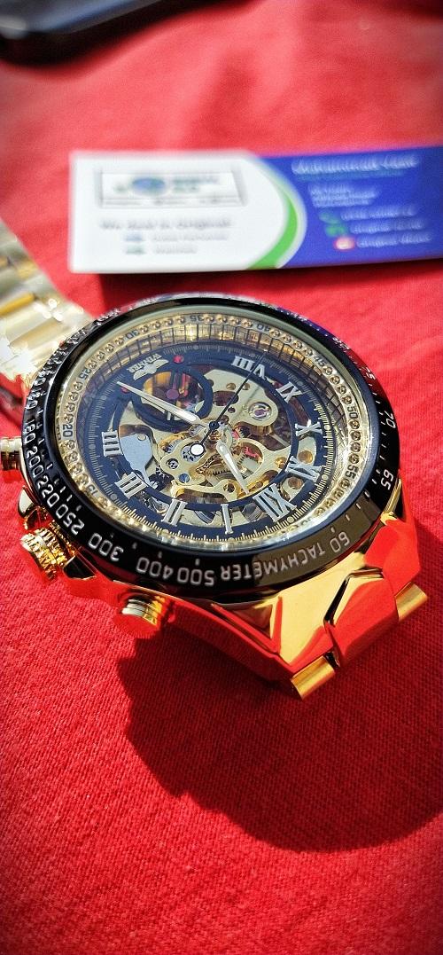 100% Original Winner Mechanical Sport Design Bezel Golden Watch Mens Watches Top Brand Luxury Montre Homme Clock Men Automatic Skeleton Watch