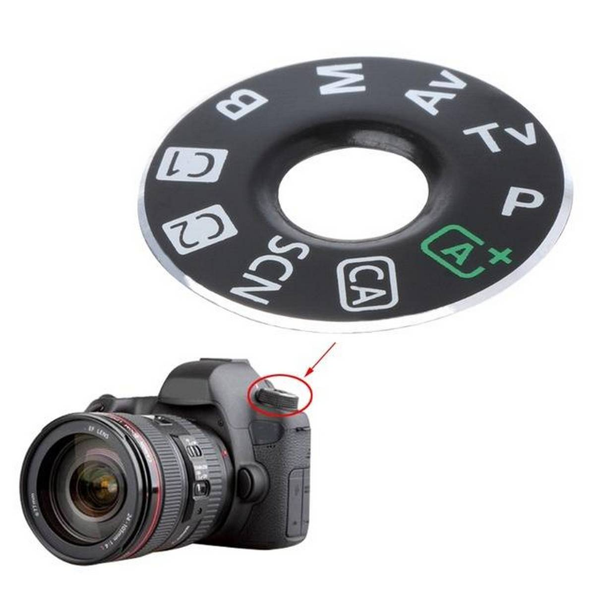 Dail Mode Plate Interface Cap For Canon EOS 6D Digital Camera Replacement Part
