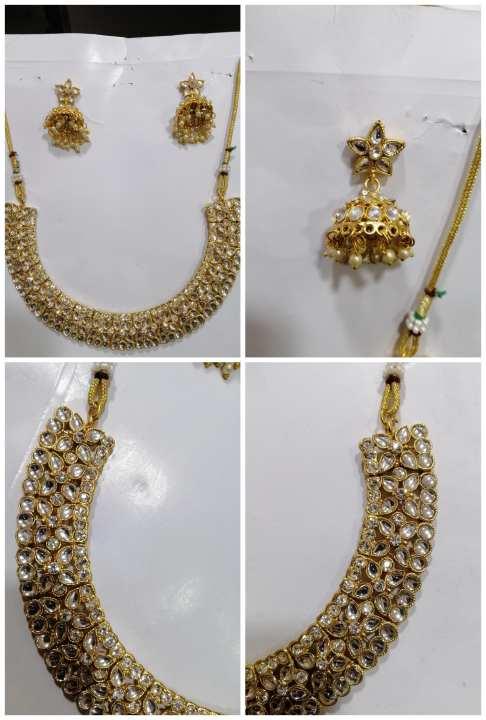Gold palated 1carat 100 % pure andian kundan set