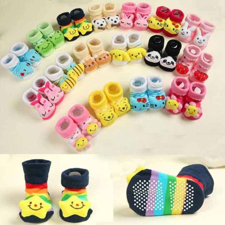 Baby socks floor cartoon kids Toddlers autumn spring Fashion Animal newborn Cute 0-6-12month