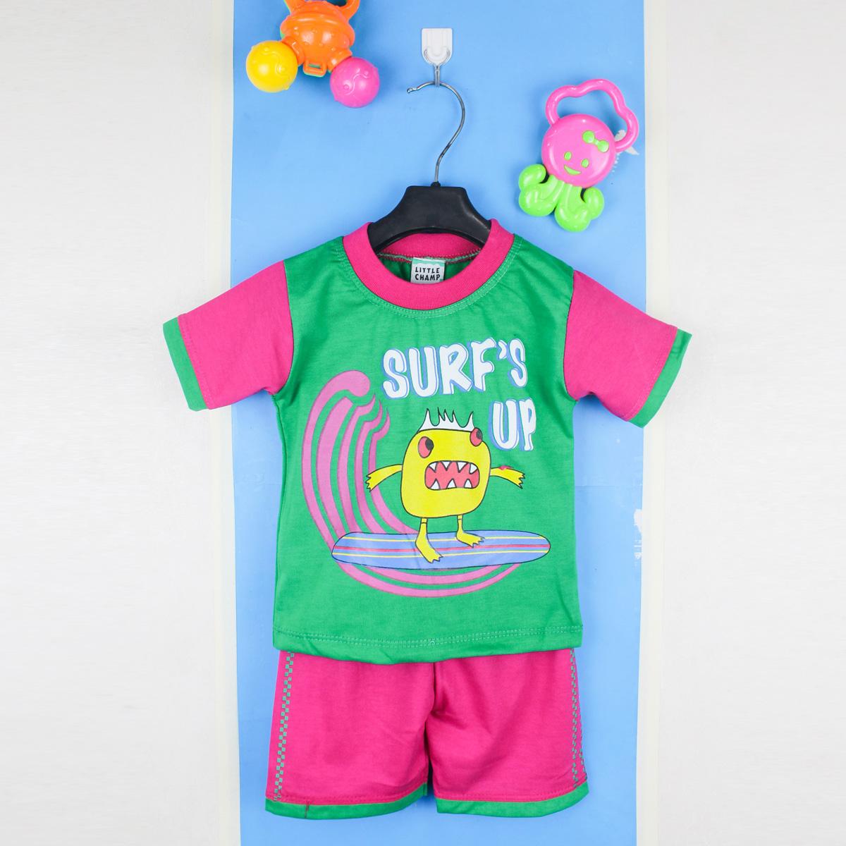 Cut Price ATT Newborn Suit 3 Mth- 9 Mth Printed SURFS