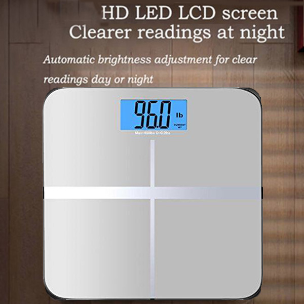 LCD Display Body Weighing 10g-180kg Digital Health Weight Scale Bathroom Floor Electronic Body Floor Scales Glass Smart Scales Battery