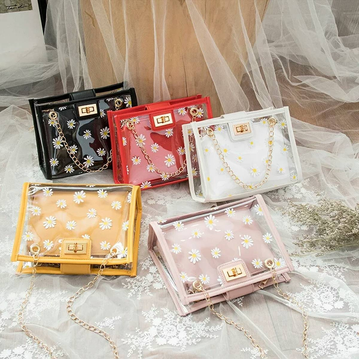 Transparent Bags for Girls Hand Bags for Women Unique Should