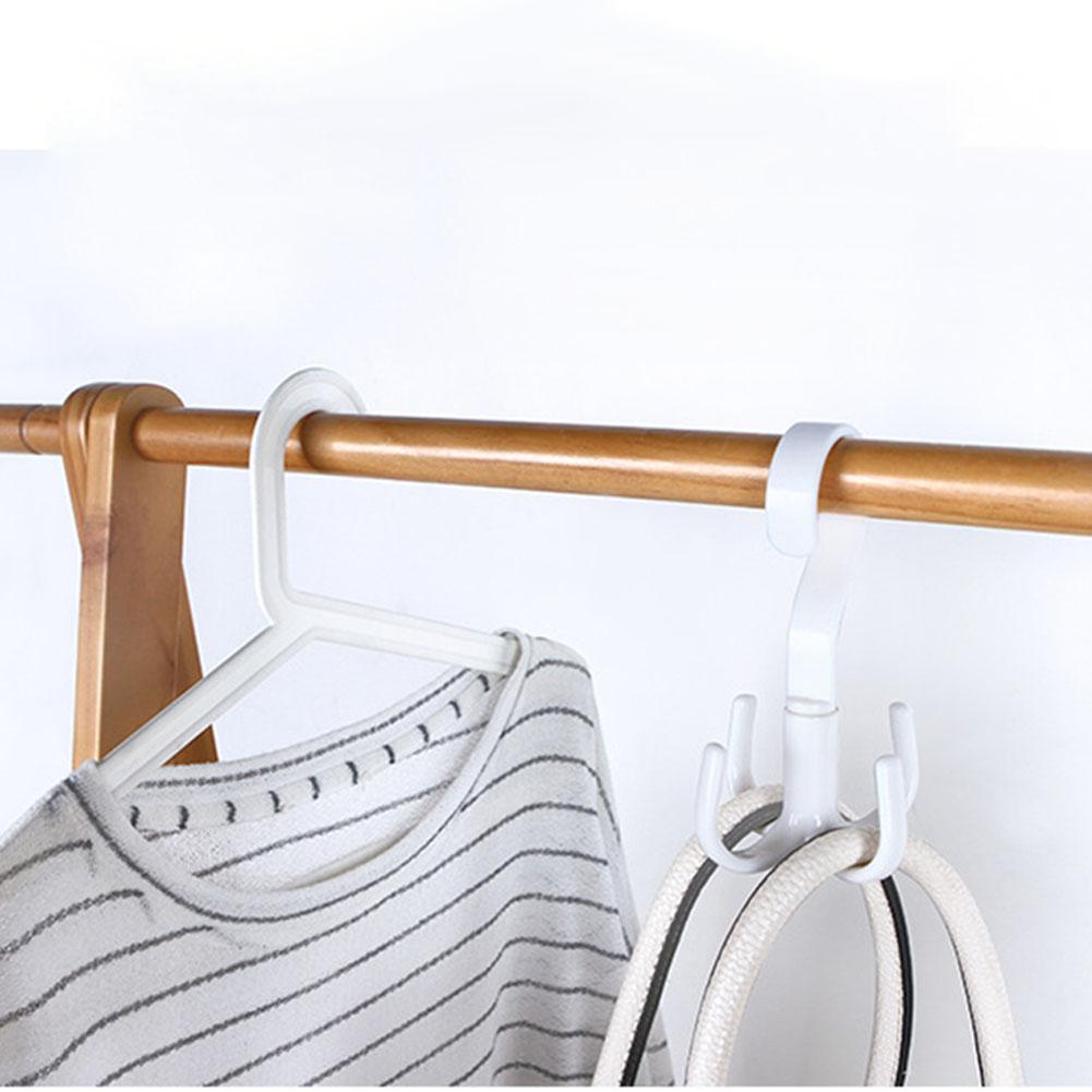1pc Hook Hanger 360 Degrees Rotated 4 Hooks Handbag Clothes Ties Bag Holder Shelf Hanger Hanging Rack Storage Organizer Hooks Home Storage & Organization