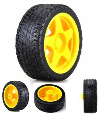 Yellow Tyre Wheel for Smart Robotic Car