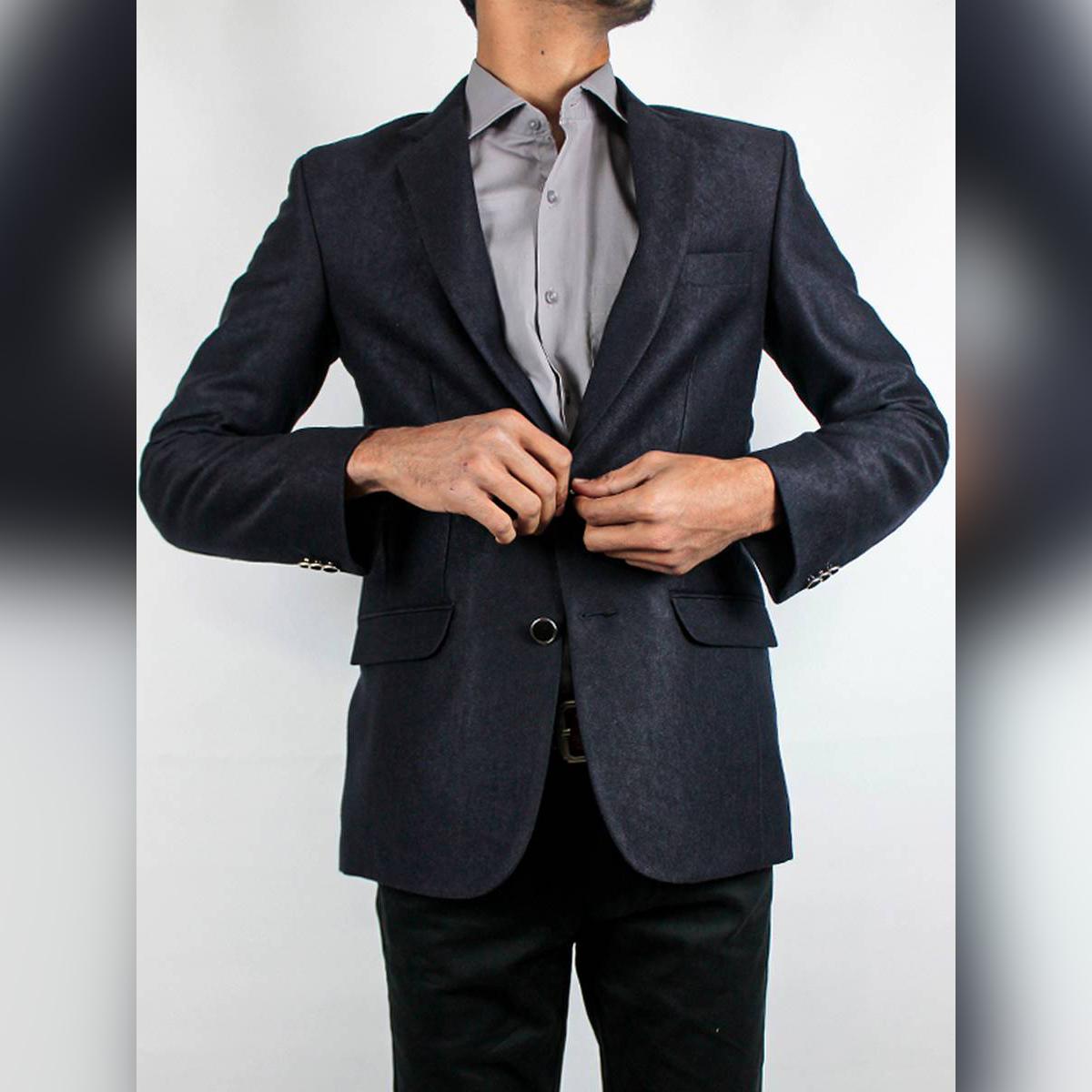 Cut Price Casual Coat Blazer for Men Tweed Navy Blue