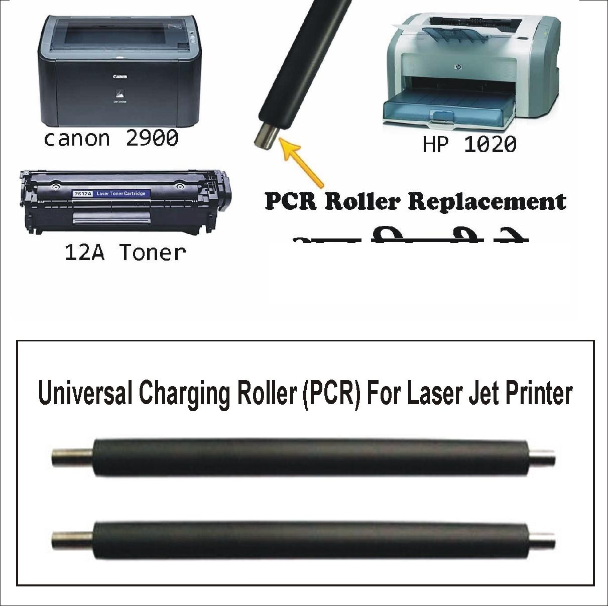 Primary Charging Roller / Printer PCR / Toner Cartridge PCR for HP, Canon  12A, 49A,53A,05A,13A,15A,80A