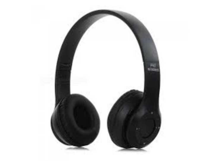 Deep Base Wireless Bluetooth Headphone P-47 Black