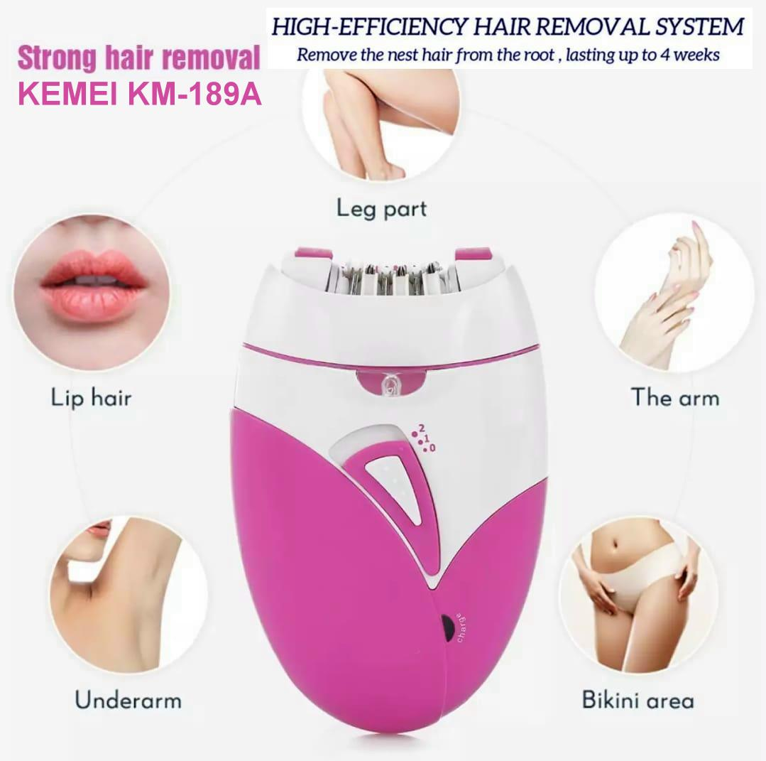 KEMIE Rechargeable Ladies Hair removal epilator machine (189A), female shaver hair trimmer Best quality
