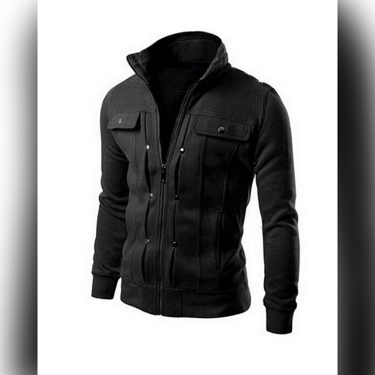 Black Mexican jacket for Men  with Front Pocket