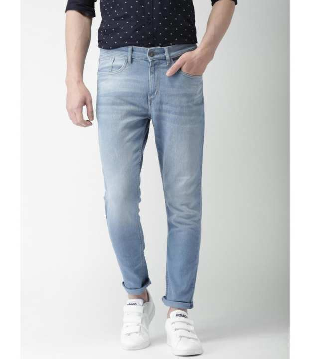 Men Ice Blue Stylish Denim Jeans.