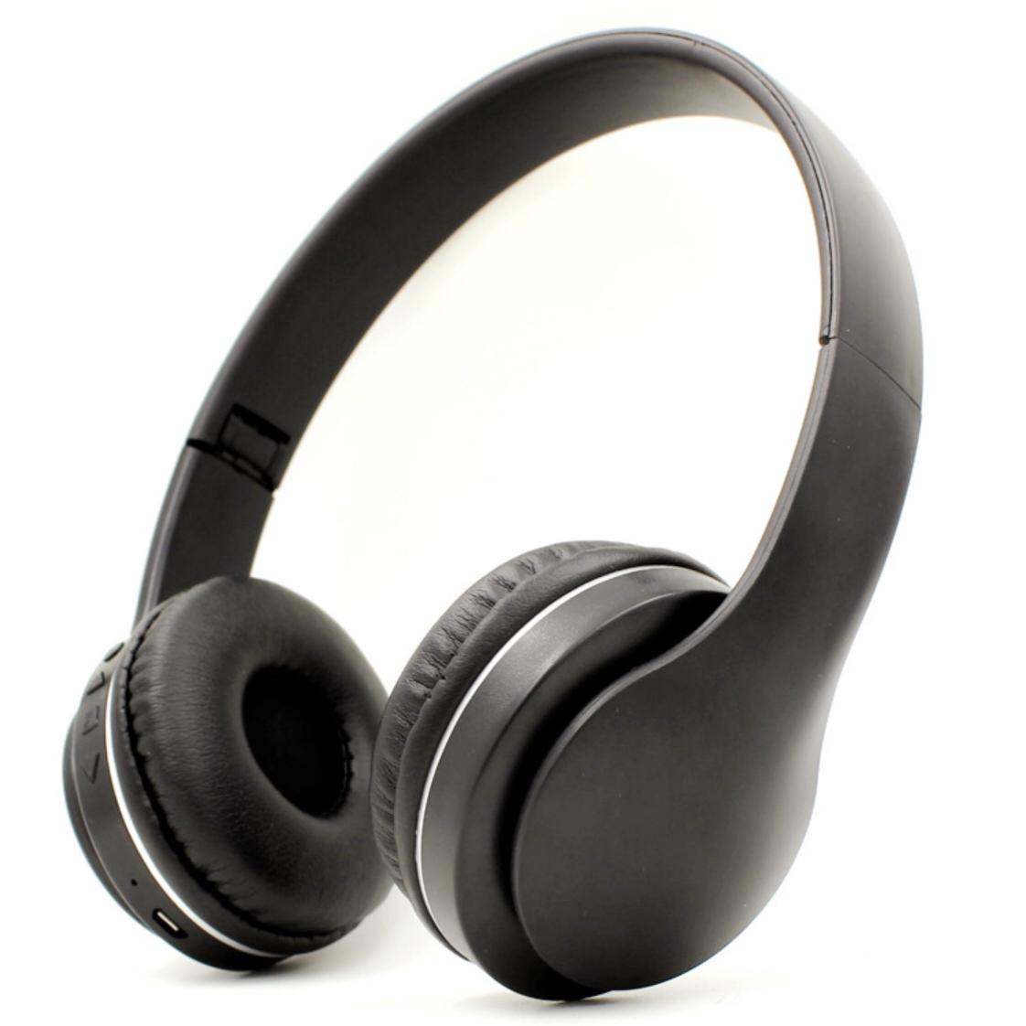 Lunar K2 Bluetooth Wireless Headphone - Rechargeable - Stereo - Mobile Headset - BLACK