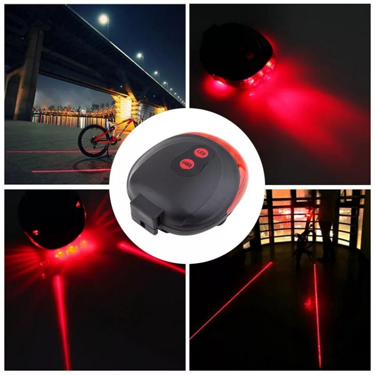 Bicycle Tail light waterproof LED Laser Safety Warning Bicycle Lights Bicycle Tail Bicycle Accessories Light