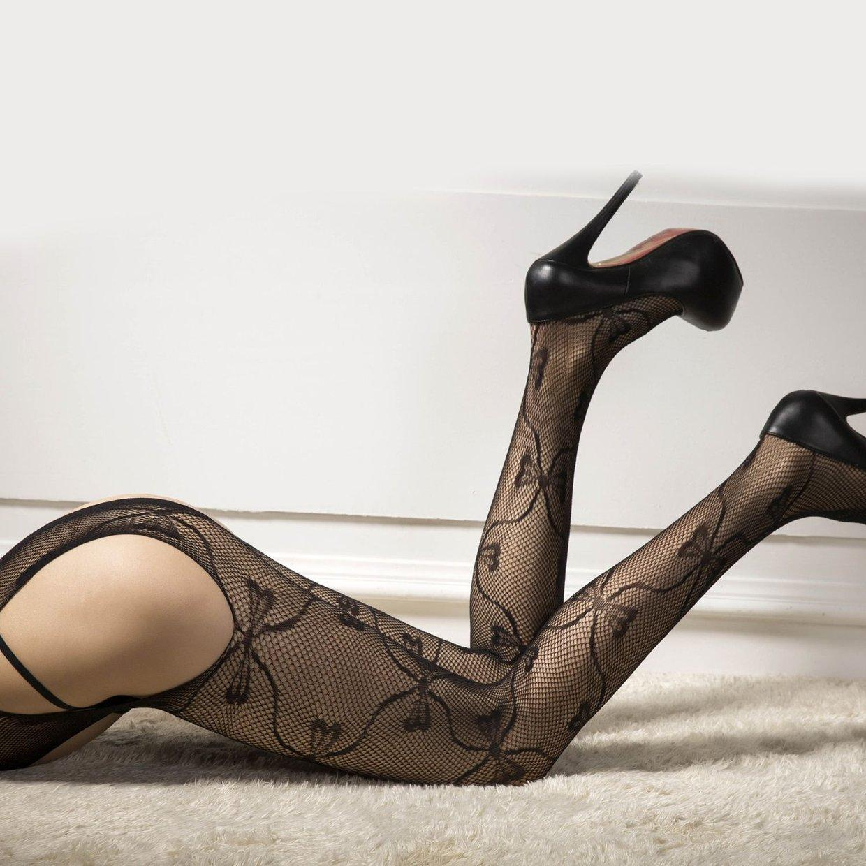 ad24aa15a1454 Sexy Women Fishnet Stockings Stretchy Suspender Open Crotch Pantyhose Tights