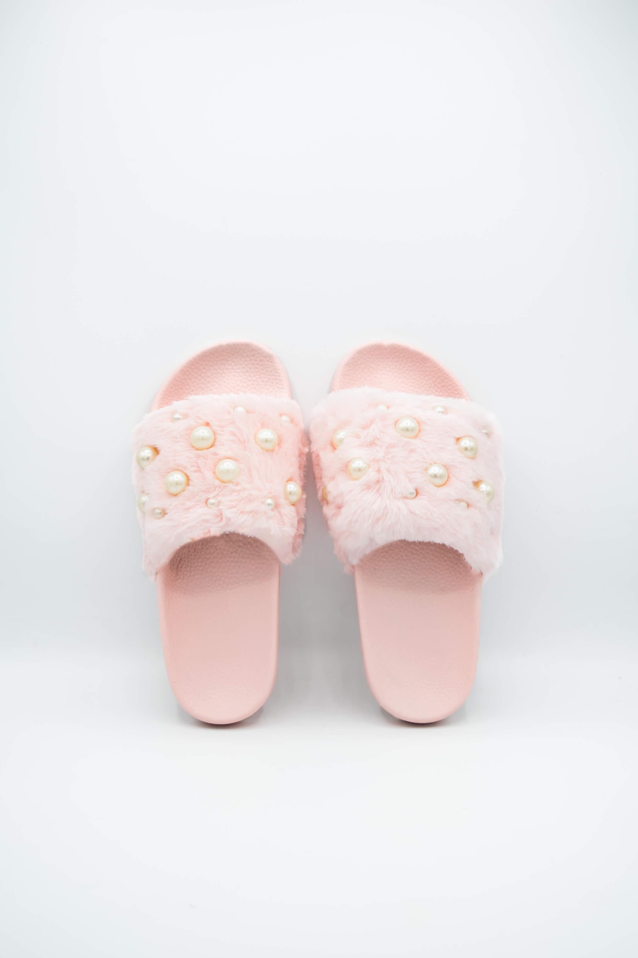 Women Pearls ladies house Slippers