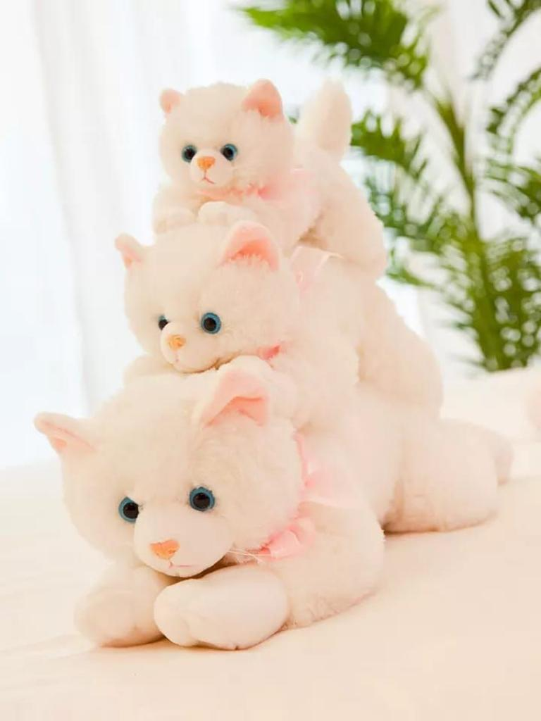 Best Quality Soft Cat Stuffed Plush Persian Cat Animal Toy Fluffy With Touch Meow Meow Sound Hand Soft Toys Best For Gift Valentine Birthday Kids Infant Toddler Girl Toys Doll - Available in 9 inch 13 inch and 17 inch At Thia.pk