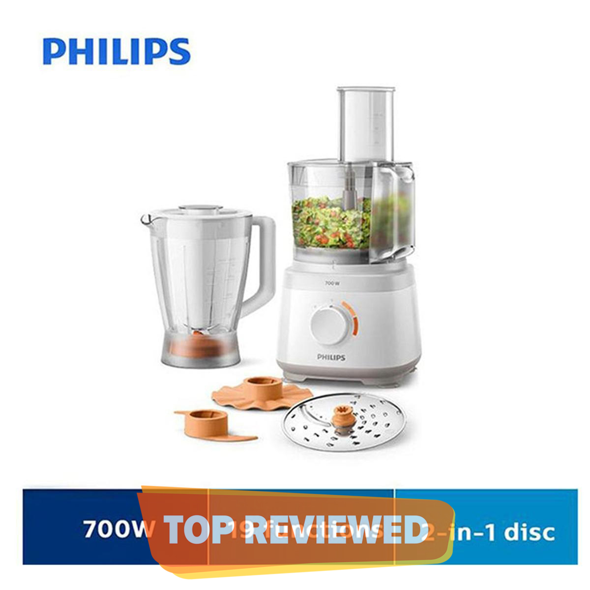 Philips Food Processor - Hr7320/00 - 19 Functions
