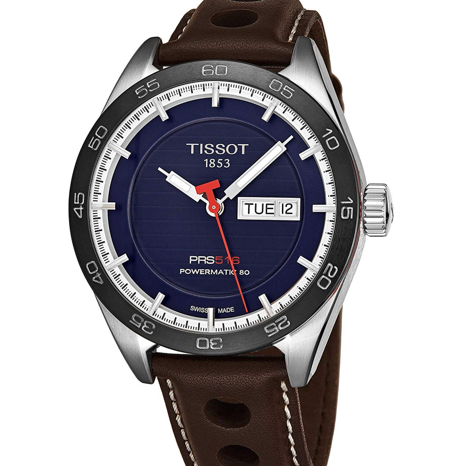 d842c3781be Tissot PRS 516 Powermatic 80 Blue Dial Automatic Men s Watch  T100.430.16.041.00