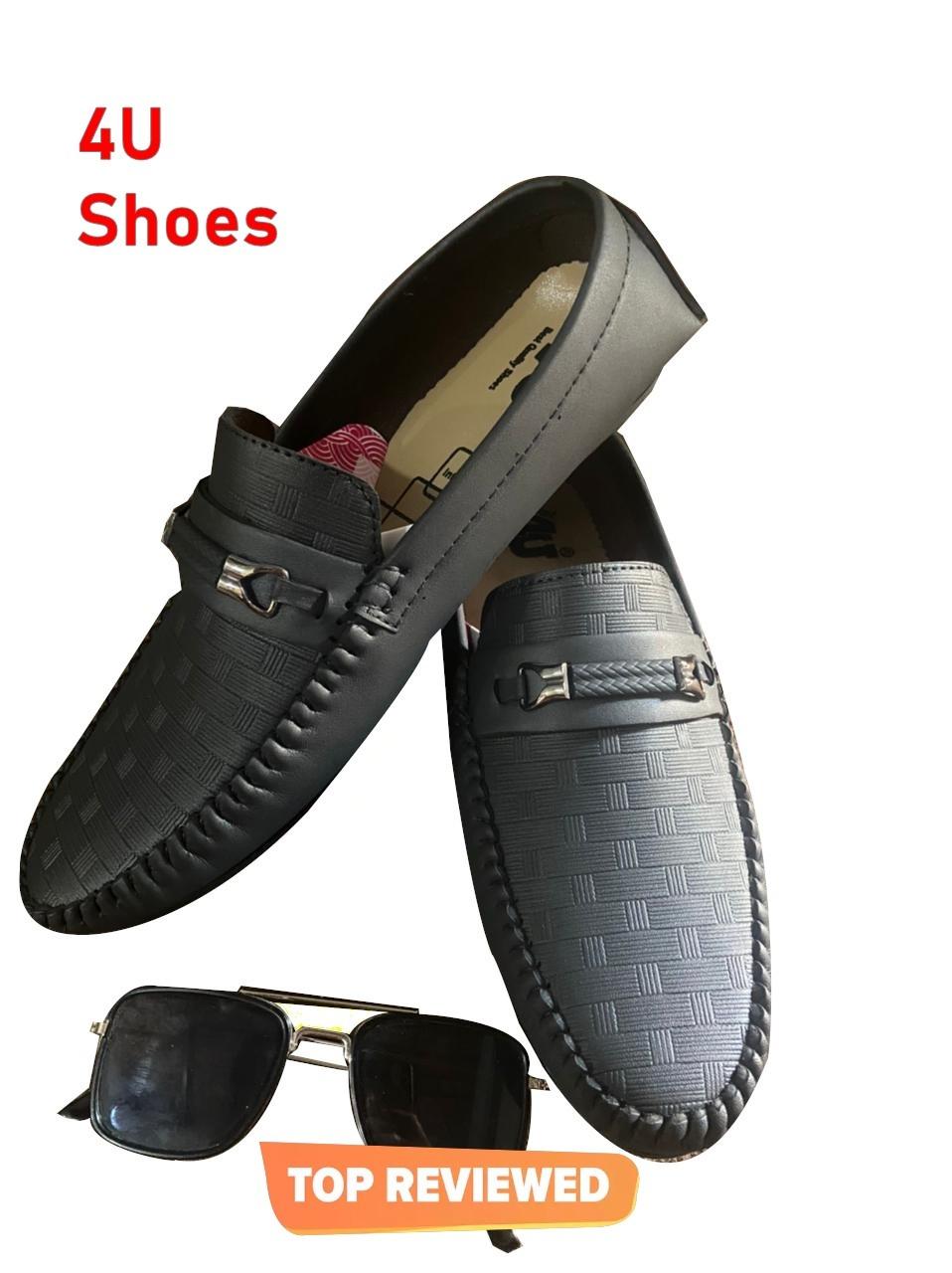 Fashion shoes black mozza # slip ons # loafer shoes black moza black formal shoes