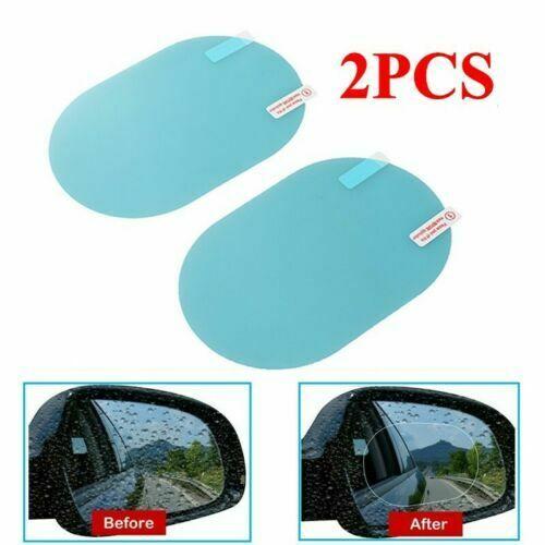[High Quality] 2pcs 2in1 Car Rearview Mirror Rainproof Film Anti Fog Window Foils Rear View Mirror Stickers Screen Protector