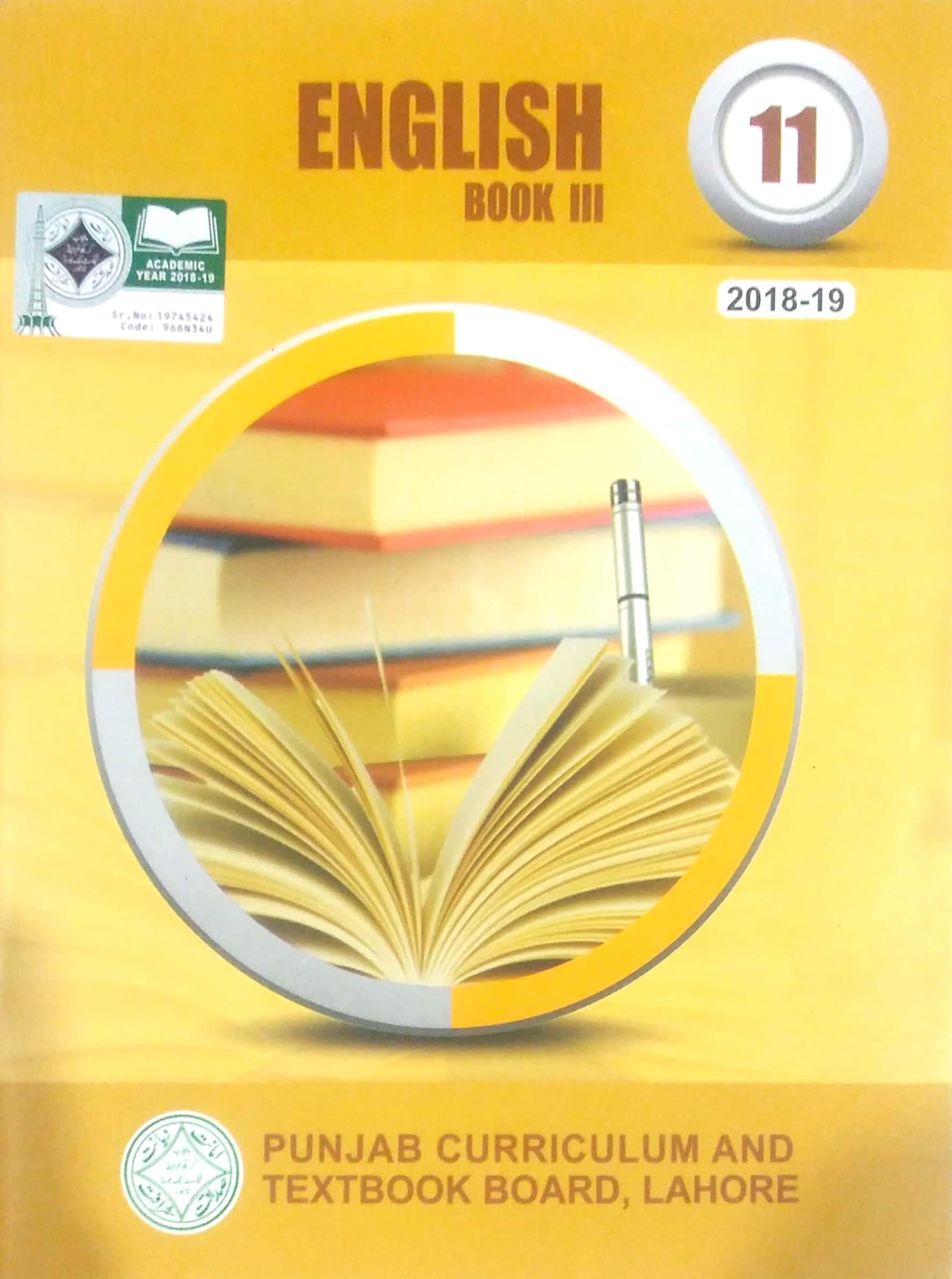English Book 3 Class 11 ( PTB )