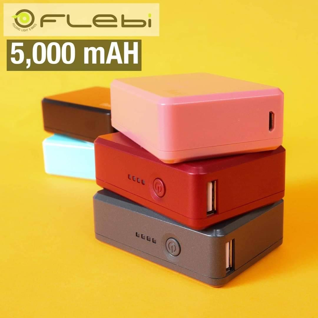 Latest Branded Power Bank 2.4A Flebi Powerbank 5,000 mAH with V8 Charging Cord for Mobile Phones and Tablets