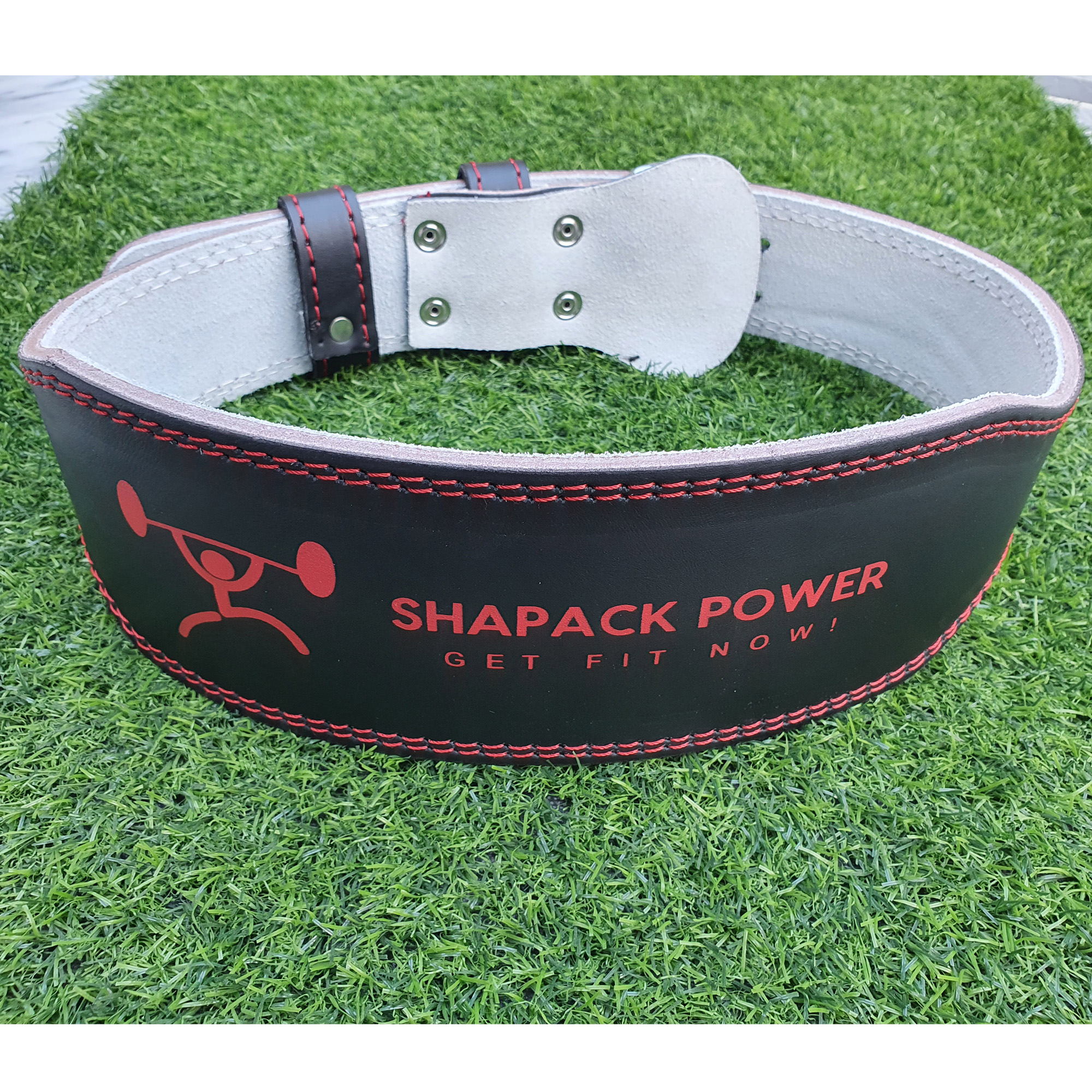Leather Weight Lifting back support padded comfortable gym workout belt with stainless steel buckle