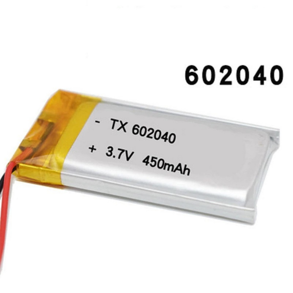 3.7V 450mAh 602040 Lipo battery Rechargeable For Electrical Projects