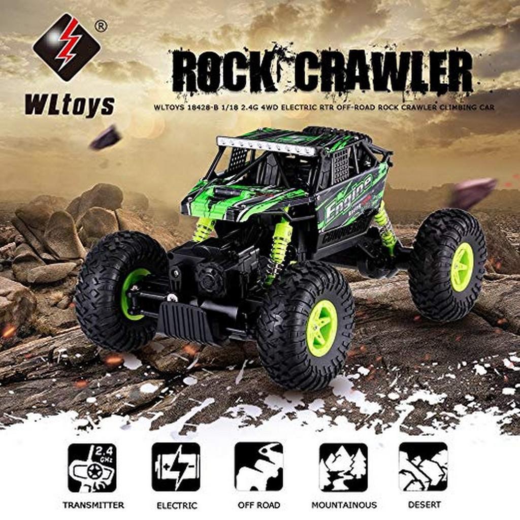 WLtoys 18428-B 1:18 4WD RC Climbing Car RTR 2.4GHz