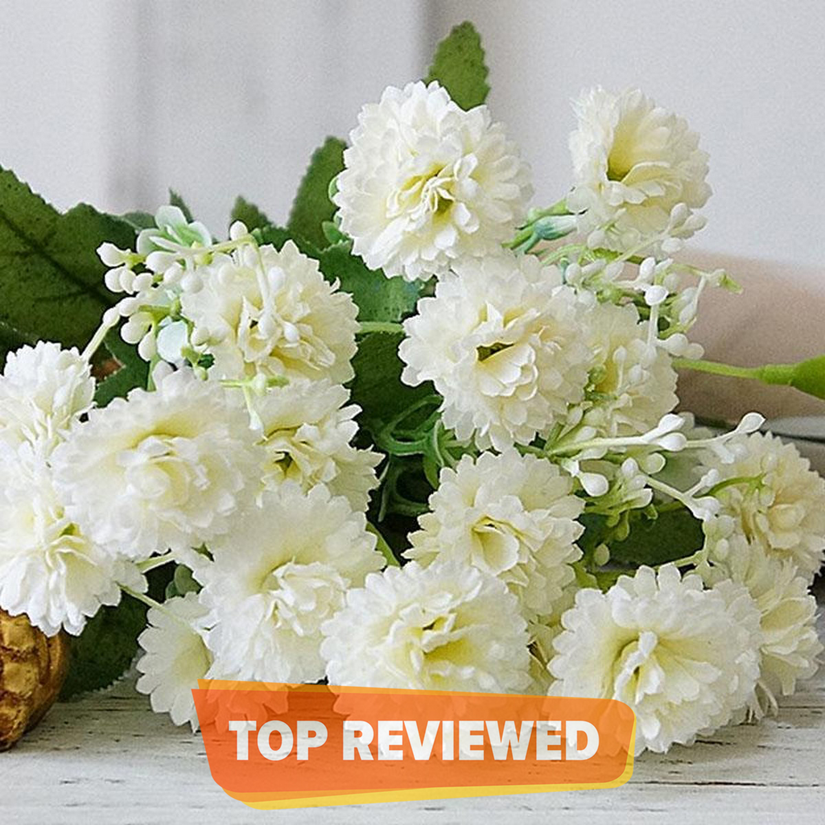NS Collection-Artificial Lilac Silk Flowers Head Plant Bouquets Party Wedding Home Decor off white