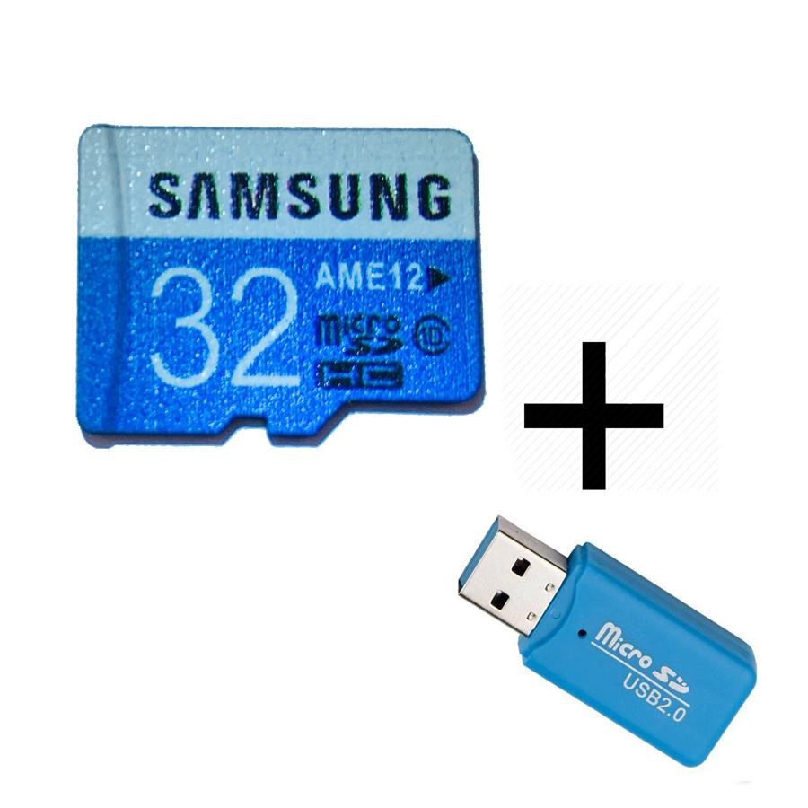 32 Gb Samsung - Class 10 - Memory Card With Free Usb Card Reader