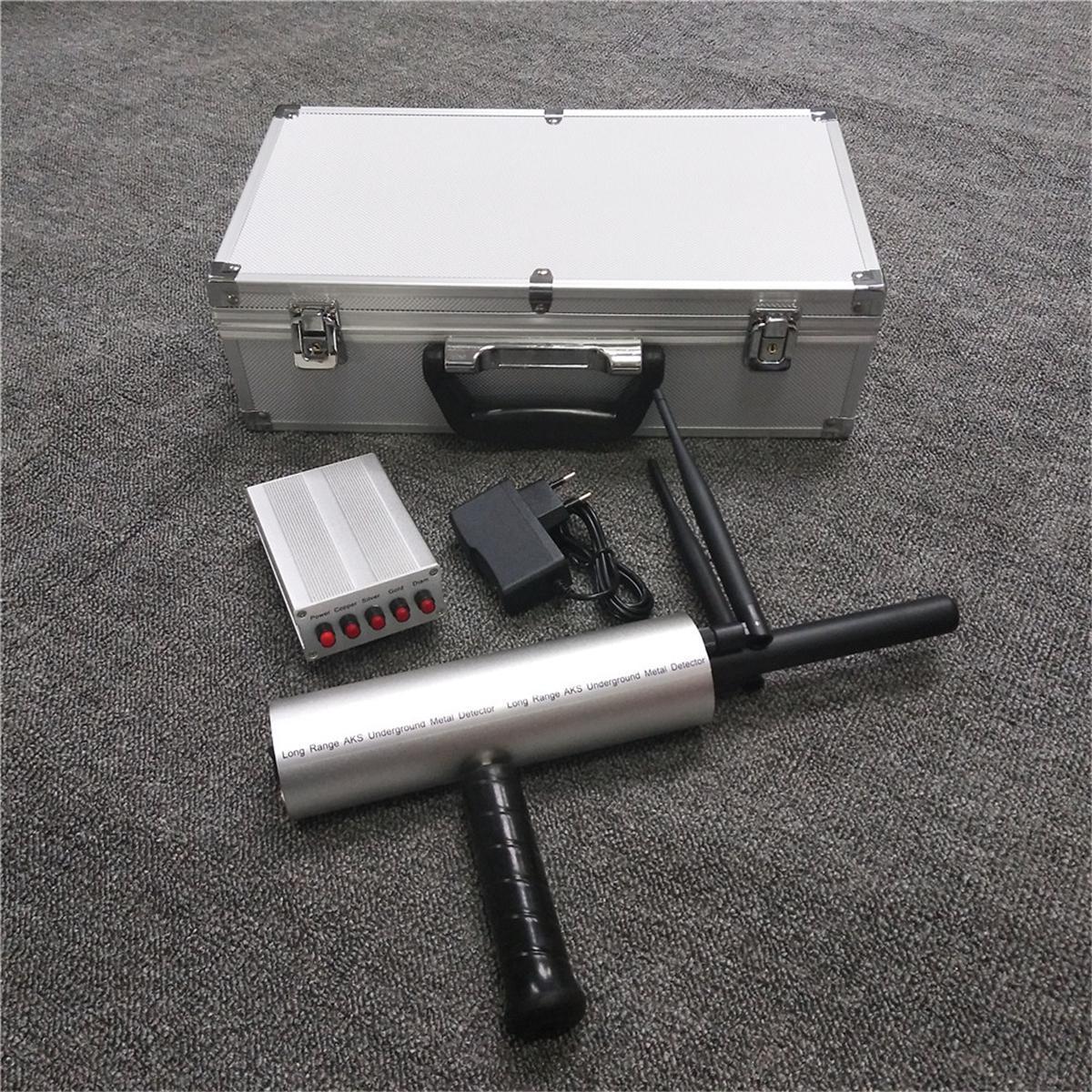 AKS Metal Detector Finder Gold Silver Copper Scanner Deep Underground Long  Range Blue / Yellow / Silver / Black