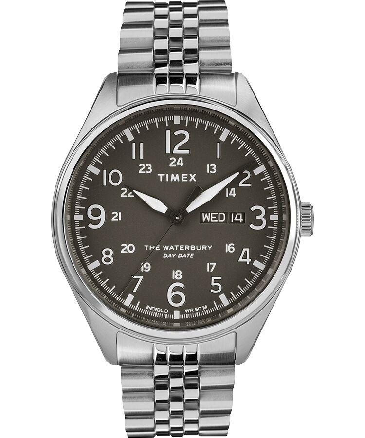 Timex Waterbury Traditional Day Date 42mm Stainless Steel Bracelet Watch for Men - TW2R89300