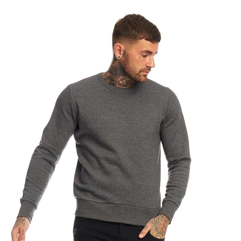 Mens Warm Fleece Sweat Shirt Plain Full Sleeves Branded for Winters