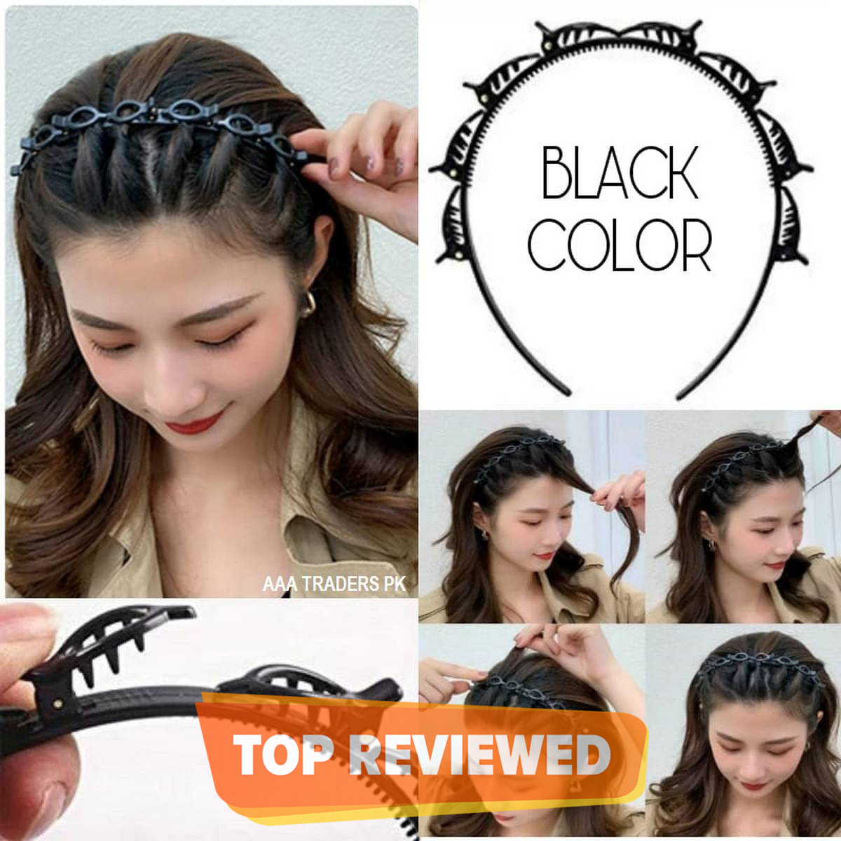 Double Layer Twist Plait Headband Hair Tools Bangs Hairstyle Hairpin Multi-Layer Hollow Woven Headband
