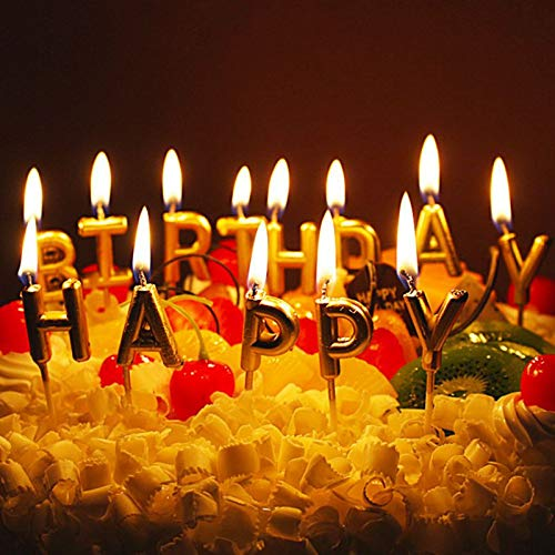 Happy Birthday 13 Pieces Candles Birthday Theme Candles for Cake (Golden): Buy Online at Best Prices in Pakistan | Daraz.pk